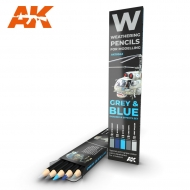 AK10043 WATERCOLOR PENCIL SET GREY AND BLUE CAMOUFLAGES
