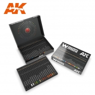 AK10047 WEATHERING PENCILS DELUXE EDITION BOX (37 waterperncil colors)