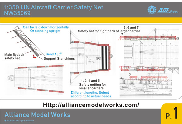 SSN Modellbau Shop - NW35069 IJN Aircraft Carrier Safety Net on