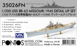 35026FN 1/350 USS BB-63 Missouri 1945 detail set (Teak tone deck)